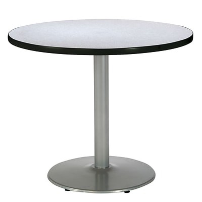 KFI® Seating 29 x 30 Round HPL Pedestal Table With Silver Base, Gray Nebula, 2/Pk