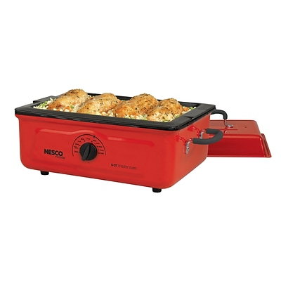 Nesco® 5 Quart Porcelain Cookwell Roaster Oven, Red