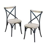 Walker Edison Urban Reclamation Wood Deluxe Dining Chair