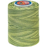 Star Mercerized Cotton Thread Variegated, Spring Greens, 1200 Yards