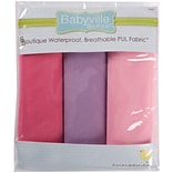 Babyville PUL Waterproof Diaper Fabric, Girl Solids, 21X24 Cuts