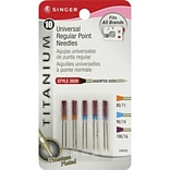 Singer Universal Regular Point Needles; Assorted Sizes, 10/Pack