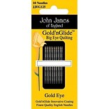 Colonial Needle Goldn Glide Big Eye Quilting Needles , Size 11, 10/Pack