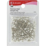 Singer Pearlized Head Straight Pins 1-1/2; 120/Pack