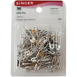 Singer Safety Pins; Assorted Sizes, 90/Pack