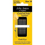 Goldn Glide Applique Hand Needles; Size 9, 10/Pkg