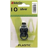ZlideOn Zipper Pull Replacements Plastic, Size 10, Silver