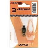 ZlideOn Zipper Pull Replacements Metal, Size 3, Old Brass