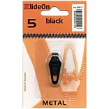 ZlideOn Zipper Pull Replacements Metal, Size 5, Black