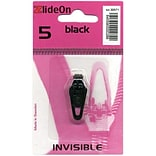 ZlideOn Zipper Pull Replacements Invisible, Size 5, Black