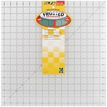 Olfa Frosted Advantage Non-Slip Ruler, The Workhorse, 16-1/2X16-1/2