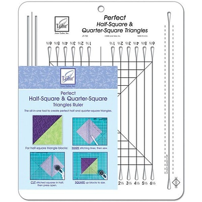 Perfect Half-Square & Quarter-Square Triangles Ruler, 10-1/2X12-1/2