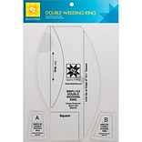 Double Wedding Ring Template, 3 Pieces