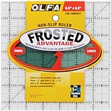 Olfa Frosted Advantage Non-Slip Ruler, The Compact, 6-1/2X6-1/2