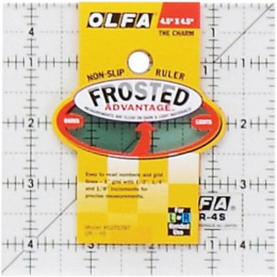 Olfa Frosted Advantage Non-Slip Ruler, The Charm, 4-1/2X4-1/2
