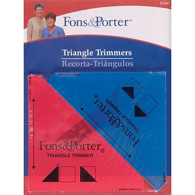 Fons & Porter Triangle Trimmers, 1/2 & 1/4, 2/Pkg