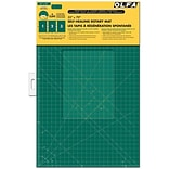 Olfa Gridded Cutting Mat Set; 35X70, Clipped