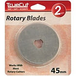 TrueCut Rotary Cutter Replacement Blades 45mm, 2/Pkg