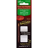 Clover Black Gold Applique/Sharps Needles, Size 12, 6/Pack