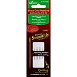 Clover Black Gold Quilting Needles, Size 9/10/12, 6/Pack