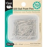Dritz Ball Point Pins, Size 17, 600/Pack