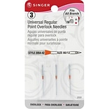 Singer Universal Regular Point Overlock Machine Needles; Size 12, 3/Pack