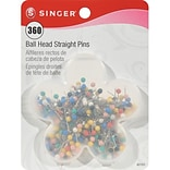 Singer Ball Head Quilting Pins In Flower Box 1-1/16; 360/Pack