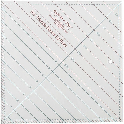 Quilt In A Day Triangle Square Up Ruler; 9-1/2X9-1/2