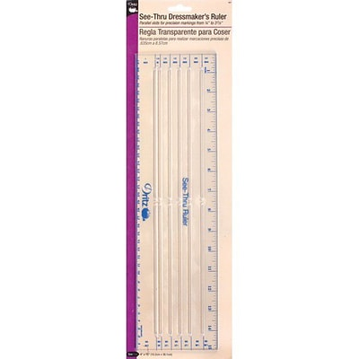 See-Thru Dressmakers Ruler, 4X15