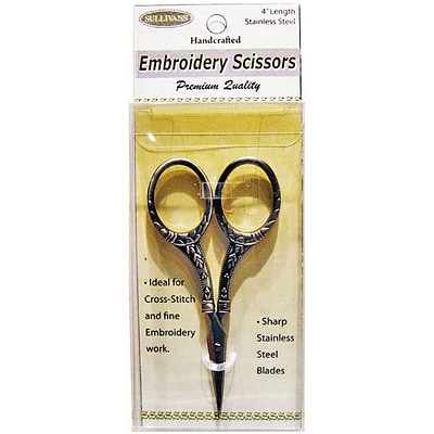 Heirloom Embroidery Scissors, 4, Gold Round Handle
