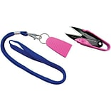 Dura Snips Squeeze-Style Thread Snips; 4-3/4, Pink & Blue