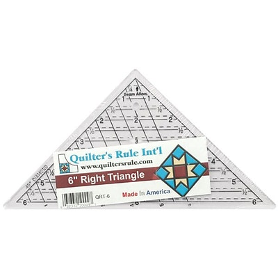 Mini-Triangle Quilters Ruler, 6-3/4X6-3/4X9-1/2