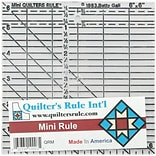 Quilters Mini Ruler, 6X6