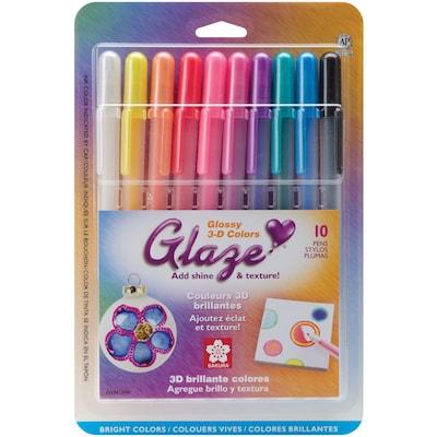 Sakura(r) 10 Piece Gelly Roll 3 Dimensional Glaze Pens