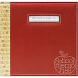MBI® Expressions School Memories Postbound Scrapbook, 12 x 12, Red Apple