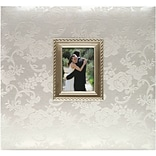 MBI® Expressions Floral Fabric Postbound Album With Window; 12 x 12, White-On-White