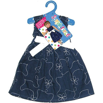 Fibre Craft® Springfield Collection® Party Dress For 18 Dolls, Navy Blue/White