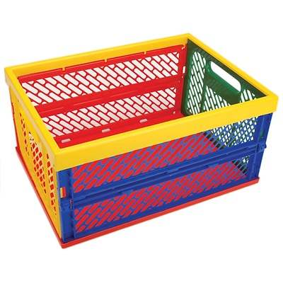 Armada Art Large 9x18.75x13.5 Collapsible Crate, Multi Color