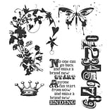 Stampers Anonymous Tim Holtz 7 x 8 1/2 Cling Stamp Set, Fairytale Frenzy