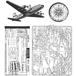 Stampers Anonymous Tim Holtz 7 x 8 1/2 Cling Stamp Set, Air Travel