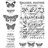Stampers Anonymous Tim Holtz 7 x 8 1/2 Cling Stamp Set, Papillon