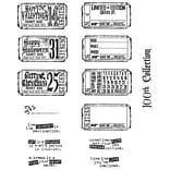Stampers Anonymous Tim Holtz 7 x 8 1/2 Large Cling Stamp Set, Odds & Ends