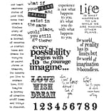 Stampers Anonymous Tim Holtz 7 x 8 1/2 Large Cling Stamp Set, Stuff 2 Say