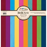 Bo Bunny Bold and Bright Double Dot Cardstock Collection Pack, 12 x 12