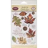 Justrite® Stampers 6 x 4 Clear Stamp Set, Shabby Chic Autumn Leaves