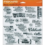 Fiskars® 8 x 8 Quote Clear Stamp, Make A Wish
