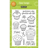 Hero Arts® 4 x 6 Clear Stamp, Cupcakes