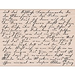 Hero Arts® 3 3/4 x 4 1/2 Mounted Rubber Stamp, Old Letter Writing