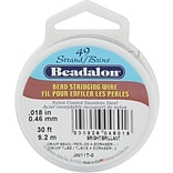Beadalon® 49-Strand 0.018 Bright Stringing Wire