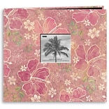 Pioneer® Tropical Postbound Album With Photo Window, 12 x 12, Purple